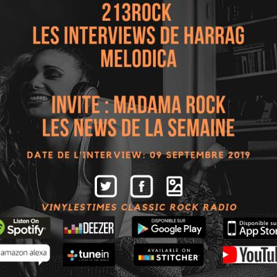 image 213Rock Harrag Melodica 🎧 Podcast 🎧 Madama Rock News + Olivier Vinylestimes 09 09 2019