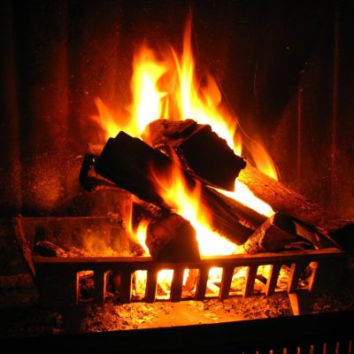 image Relaxing Crackling Fireplace