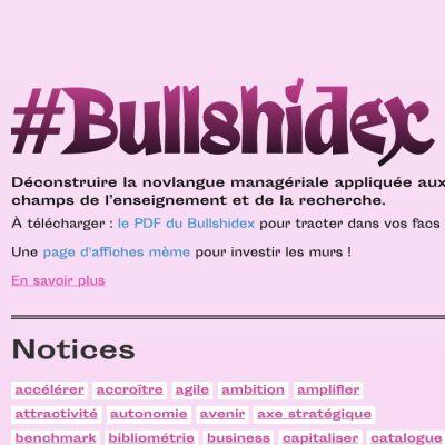 """image Le Bullshidex, """"déconstruire la novlangue"""" avec Pia Pandélakis et Anthony Masure"""