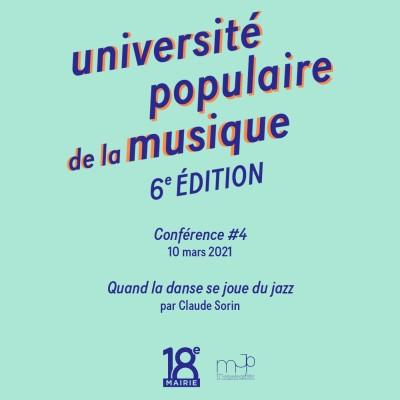#4 - université populaire de la musique - Quand la danse se joue du jazz cover