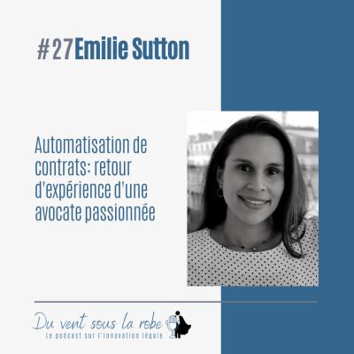 Automatisation de contrats: retour d'expérience d'une avocate passionnée– Emilie Sutton cover