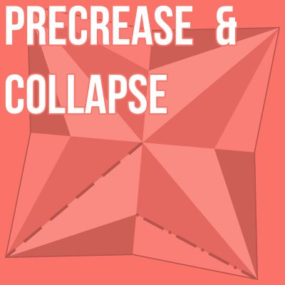 Precrease & Collapse, an origami podcast cover