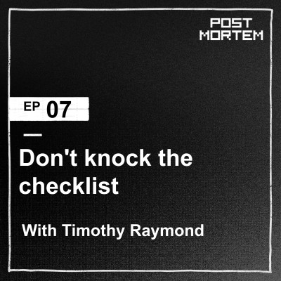 #7 Don't knock the checklist cover