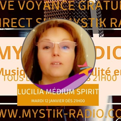Lucilia médium spirit en live voyance gratuit sur Mystik Radio / Infinità Corse Voy cover