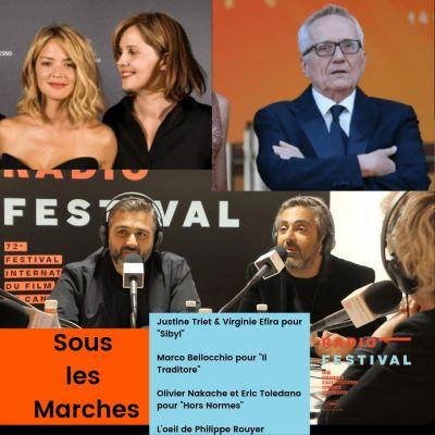 Justine Triet et Virginie Efira, Marco Bellocchio, Olivier Nakache et Eric Toledano - 24 mai 2019 cover