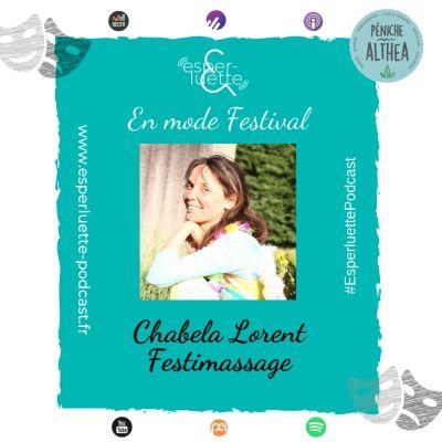 "image Chabela Lorent - Festimassage - Esperluette ""En mode Festival"""