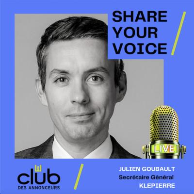 SHARE YOUR VOICE : JULIEN GOUBAULT, KLEPIERRE cover