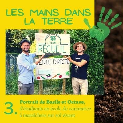 3. Portrait de Basile et Octave, d'étudiants en école de commerce à maraîchers sur sol vivant cover