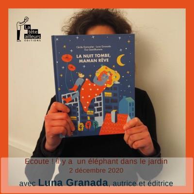 Luna Granada, autrice et éditrice de La tête ailleurs cover