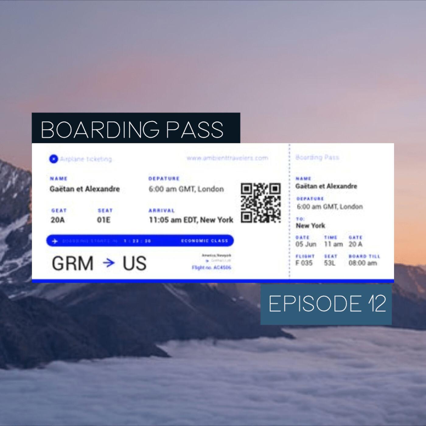 Boarding Pass 012 ✈️ Steve Roach et Thomas James White