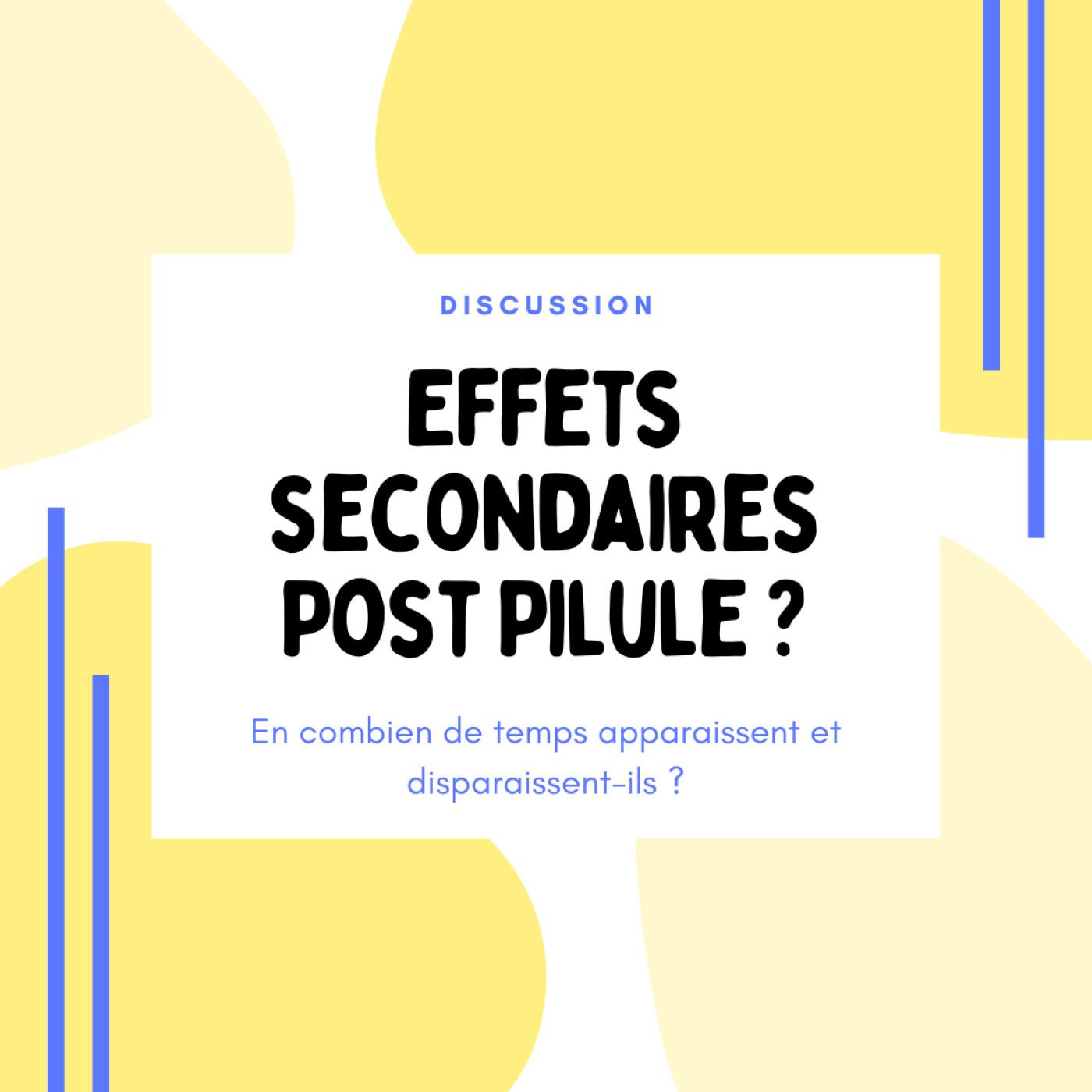Effets secondaires post Pilule : en combien de temps disparaissent-ils ?