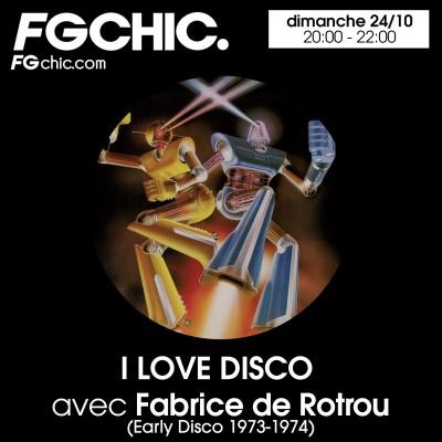 I LOVE DISCO AVEC FABRICE DE ROTROU cover
