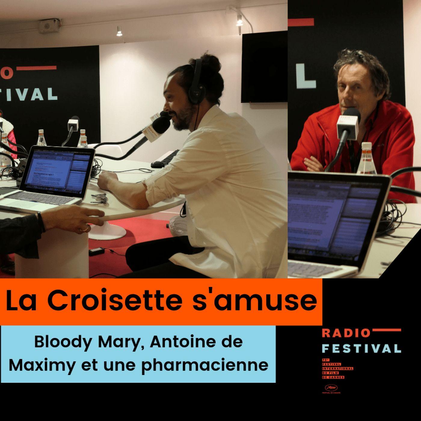 Le bloody mary, Antoine de Maximy et une pharmacienne cannoise - 17 mai 2019