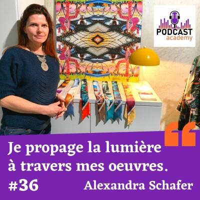 Je propage la lumière à travers mes oeuvres - Alexandra Schafer cover