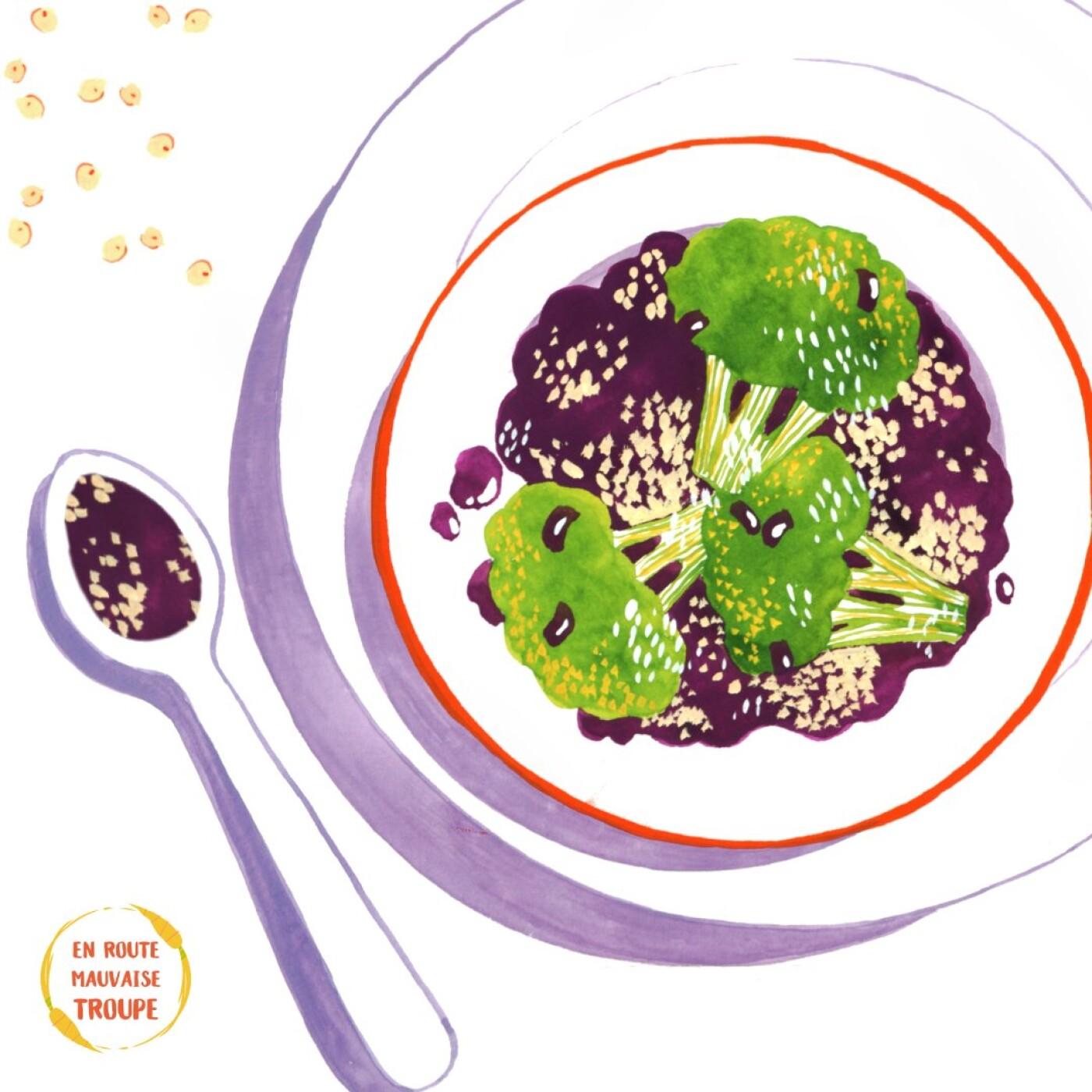 Salade de brocolis et quinoa