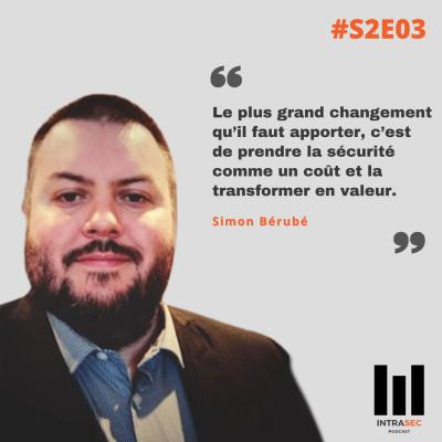 Thumbnail Image S2E03 - Simon Bérubé - L'approche DevSecOps comme levier de performance