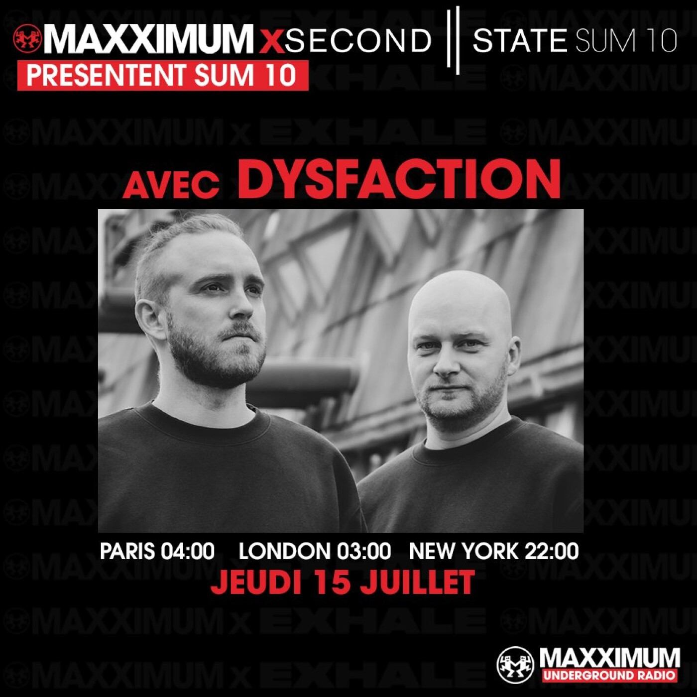 MAXXIMUM INVITE SECOND STATE : DYSFACTION