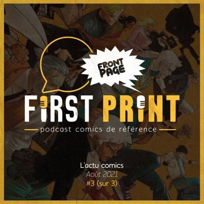Front Page : l'actualité comics du mois d'août 2021 #3 (sur 3) ! cover