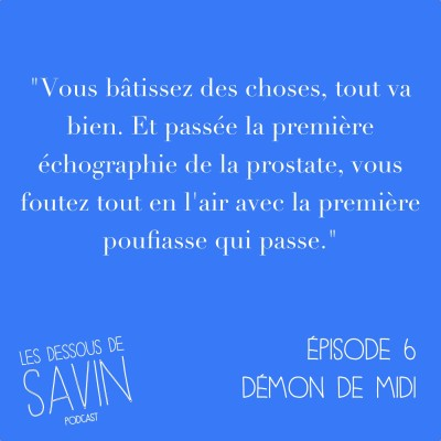 "#6 - S01/EP06 - ""Démon de midi"" cover"