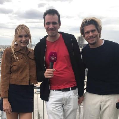 image BACKSTAGE avec Ana Girardot, Cédric Klapisch et François Civil