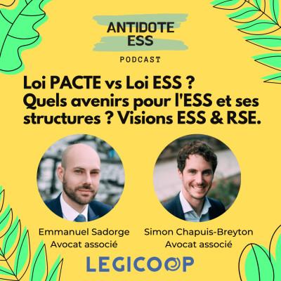 Loi Pacte vs Loi ESS ? Quels avenirs pour l'ESS et ses structures ? Visions ESS & RSE avec LÉGICOOP cover