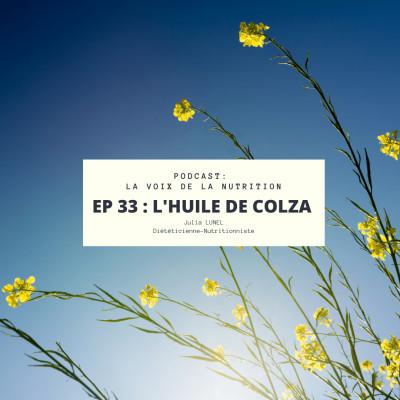 L'huile de Colza cover