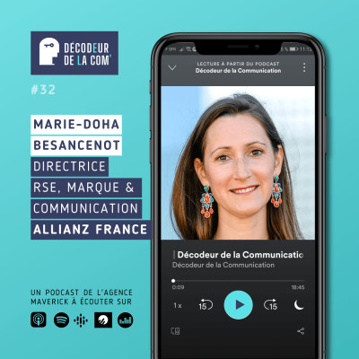 Marie-Doha Besancenot, Directrice RSE, Marque et Communication, Allianz France   Ep 32 cover