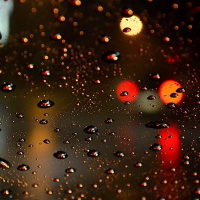 image Night Rain on a Car with Soothing Sounds