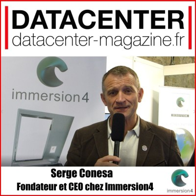 Serge Conesa, Immersion4, plonge le datacenter dans un liquide avec DTM 'Dynamic Thermal Management' cover