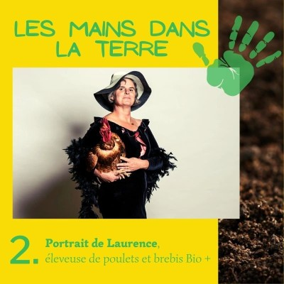 2. Portrait de Laurence, éleveuse de poulets et de brebis Bio + cover