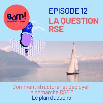 #12 La Question RSE – Comment structurer et piloter la démarche RSE ? Le plan d'actions cover