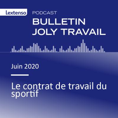 Le contrat de travail du sportif cover