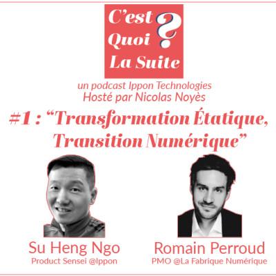 """CQLS - Episode 1 : """"Transformation étatique, transition numérique ?"""" cover"""