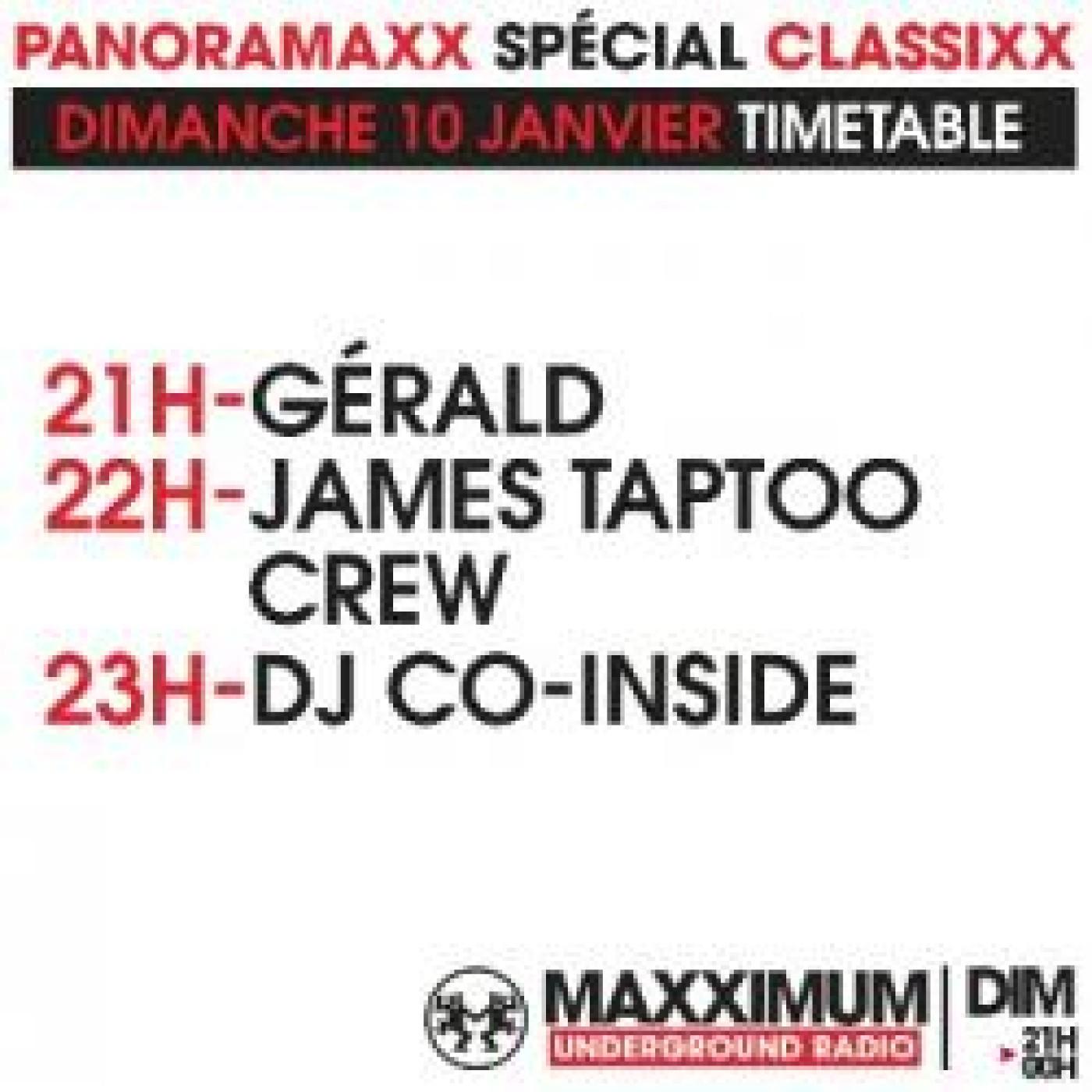 PANORAMAXX 90'S : JAMES TAPTOO CREW
