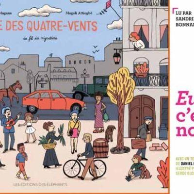"""image 19 dec 18 :L'exil dans l'édition jeunesse : """"Eux c'est nous"""", """"Rue des Quatre vents"""" / avec Jessie Magana et avec Thomas Dartige"""