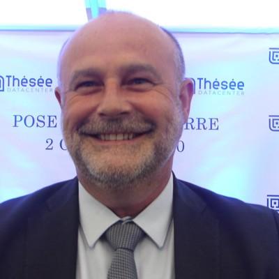José Guignard (GRDF), pose de la première pierre de Thésée Datacenter cover