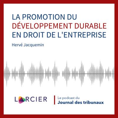 #15 - La promotion du développement durable en droit de l'entreprise cover