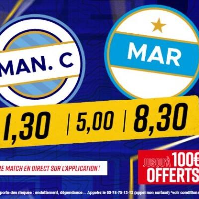 Man. City - OM : Les paris sportifs avec Betclic et @A_LaCommanderie cover