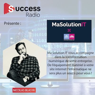Nicolas Blasyk créateur de Ma Solution IT cover