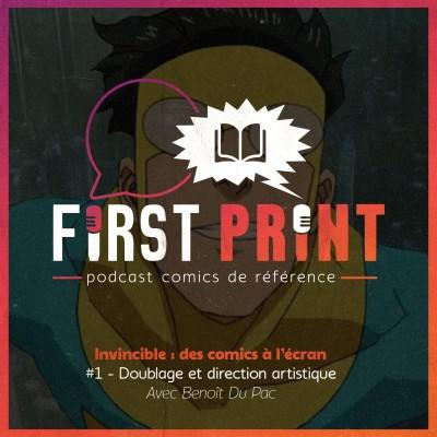 Invincible : des comics à l'écran - #1 : Doublage et direction artistique, avec Benoît Du Pac [Omnibus] cover
