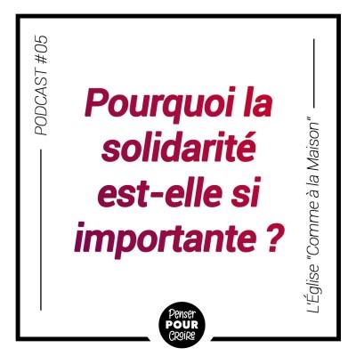 Pourquoi la Solidarité est-elle si importante ? Penser pour croire cover