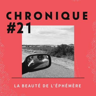 Chronique 21 - La beauté de l'éphémère cover
