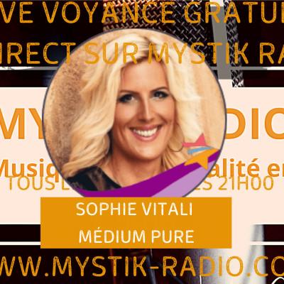 Live voyance gratuite Sophie Vitali médium et voyante & Yannis cover