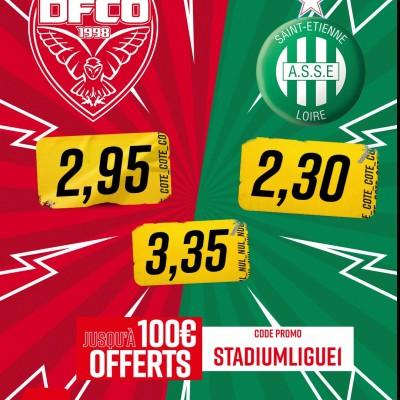 Dijon FCO - AS Saint Etienne : Les paris avec Betclic cover
