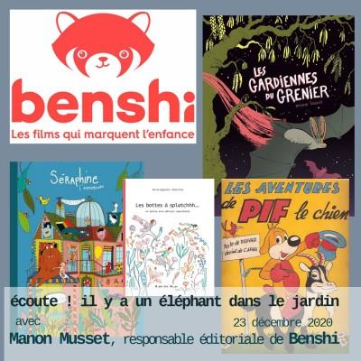 Manon Musset, responsable éditoriale de Benshi cover