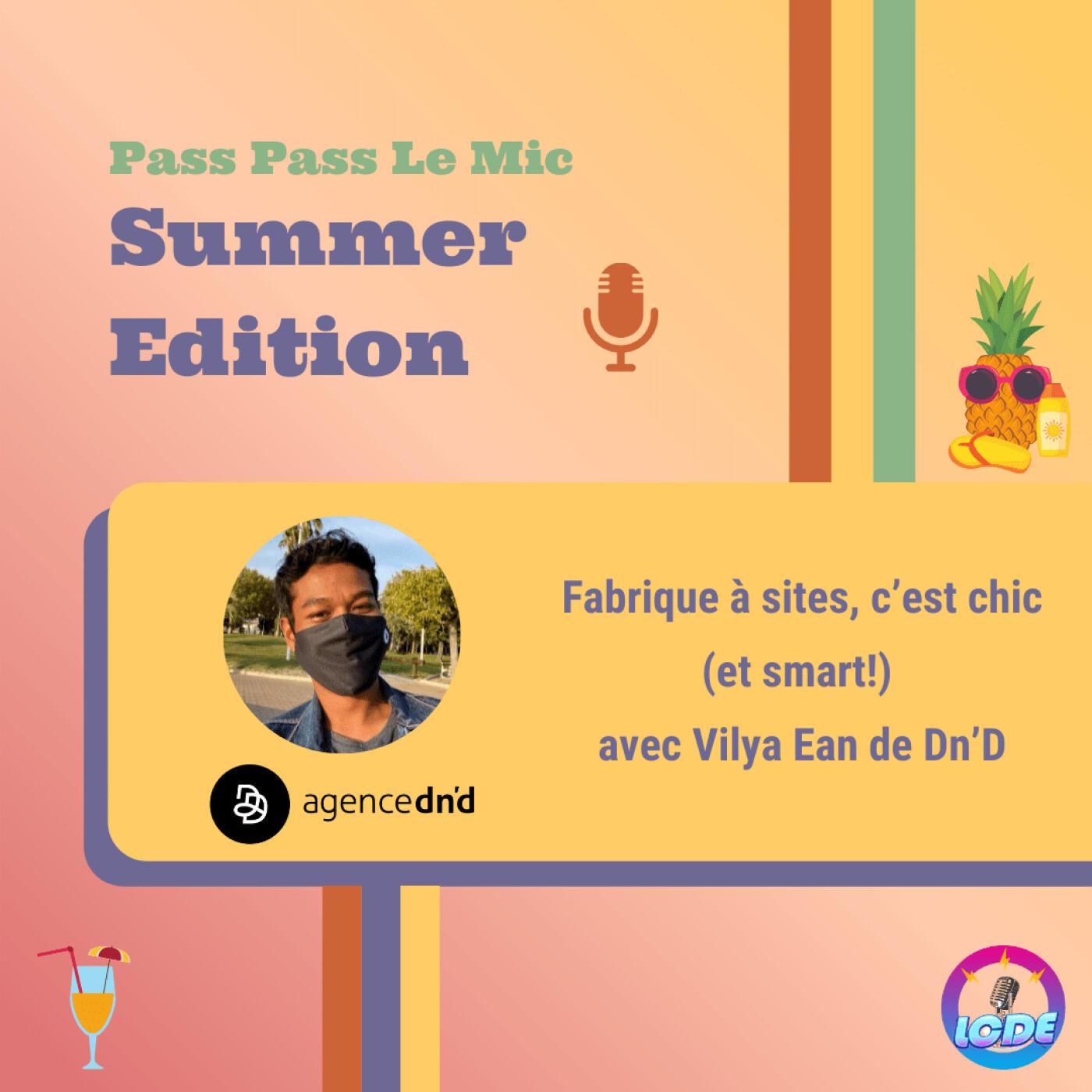 PPLM Summer Edition - Fabrique à sites, c'est chic (et smart!) avec Vilya Ean de Dn'D