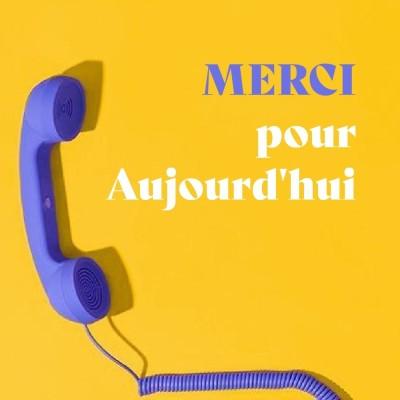 MERCI POUR AUJOURD'HUI cover