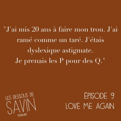 """#9 - S01/EP09 - """"Love me again"""" cover"""