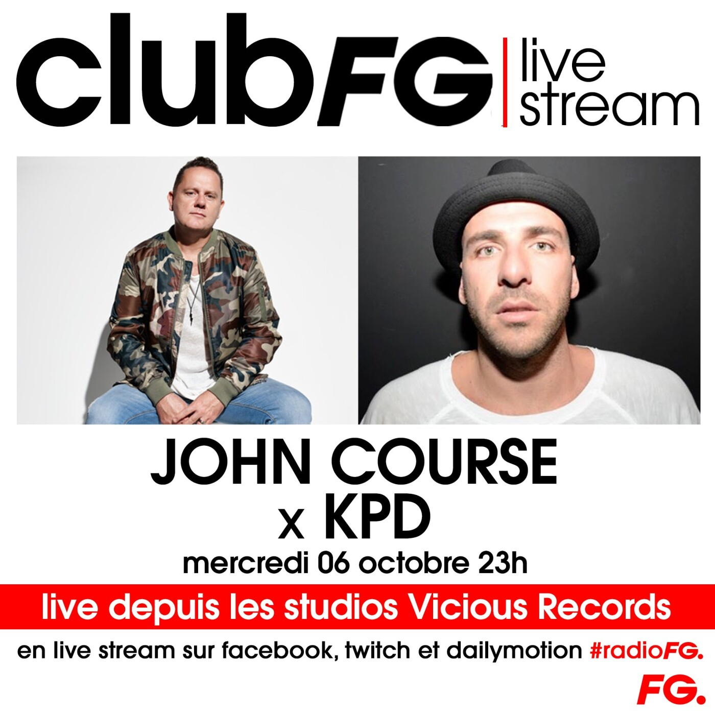CLUB FG LIVE STREAM : JOHN COURSE x KPD