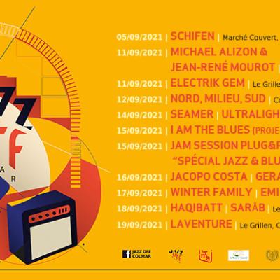 FESTIVAL JAZZ-OFF 2021 DE COLMAR - SAMEDI 11 SEPTEMBRE 2021 - 11H cover